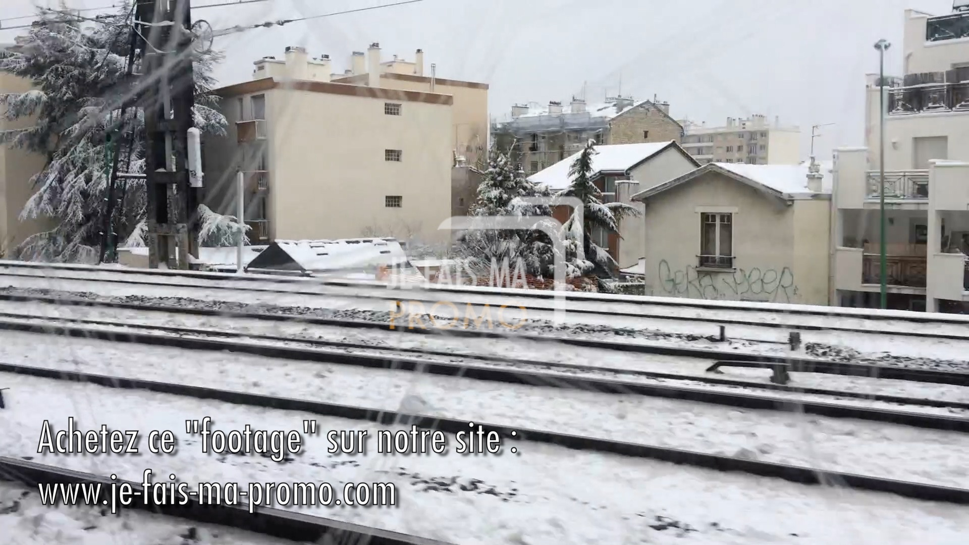 VIDEO TRAINS  NEIGE REGION PARISIENNE 01