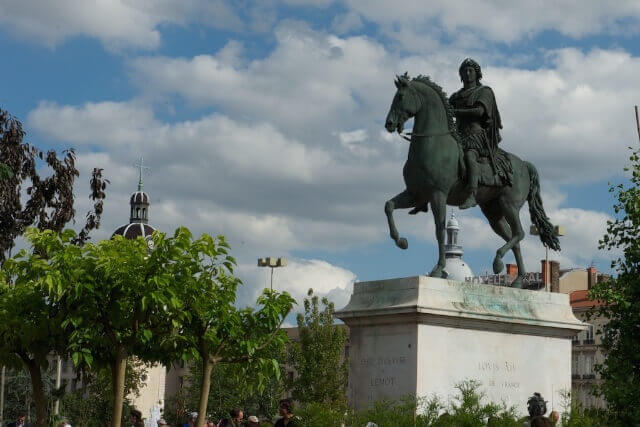 La statue de Louis XIV place Bellecour