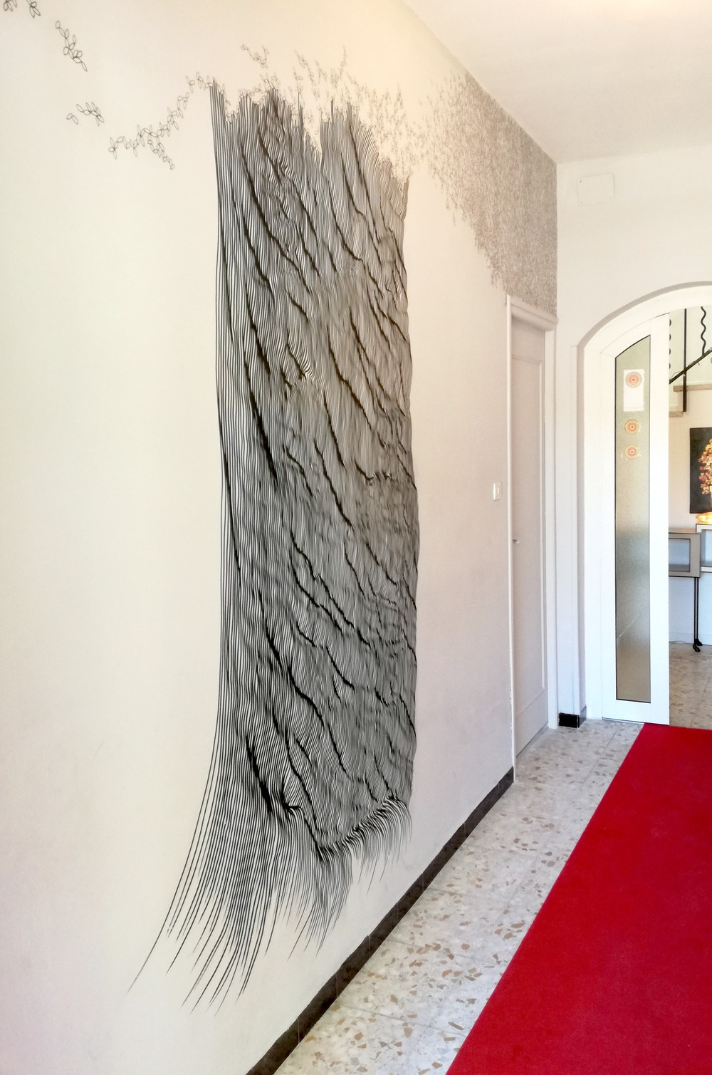 "wall drawing - galerie ""Vue sur cours"" Narbonne"