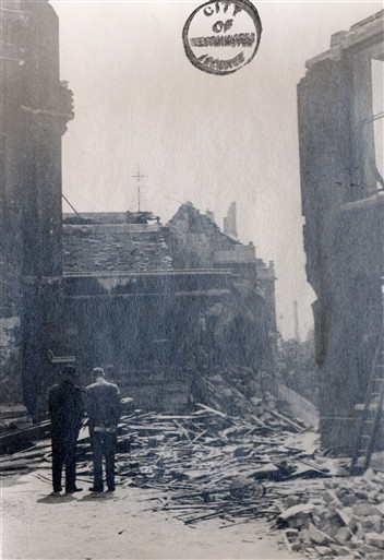 Damage to 2 Temple Place (Accountants Hall) - Photo copyright Westminster City Archives