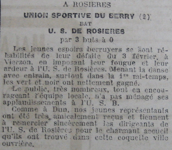 Match USR contre US du Berry