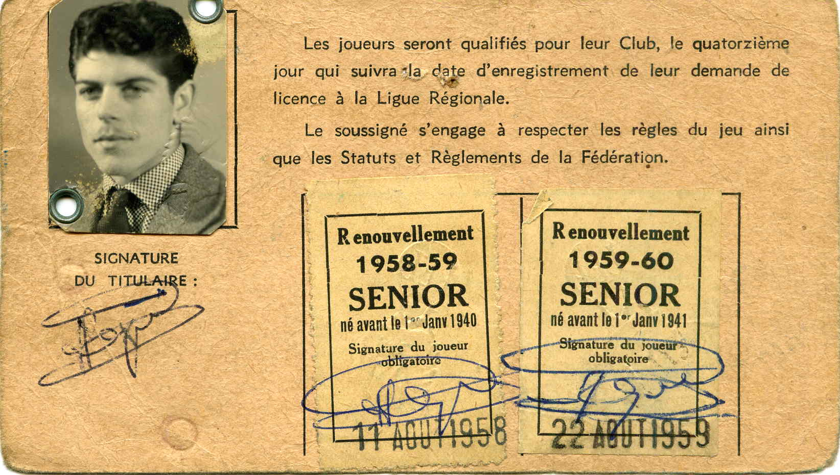 Licence Senior Jacques SAINJON 1957-58